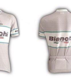 Bianchi Team Carbon Short Sleeve Jersey Grey